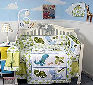 SOHO Dinosaur Crib Nursery Bedding Set  PLUS FREE BABY CARRIER FOR LIMITED TIME OFFER ONLY