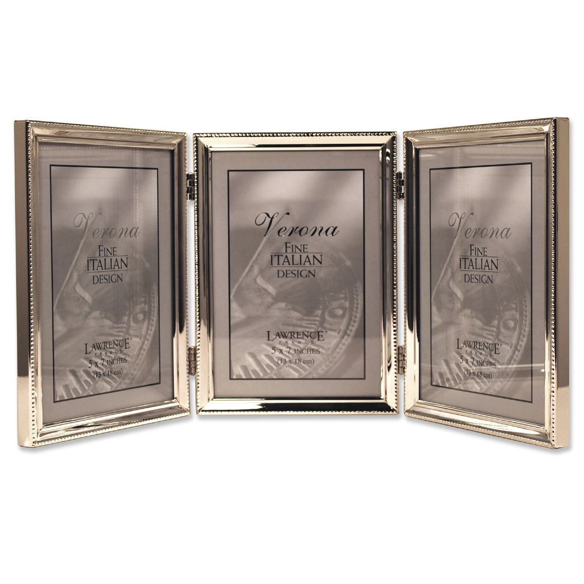 Triple picture frames gallery craft decoration ideas lawrence frames polished silver plate 5x7 hinged triple picture lawrence frames polished silver plate 5x7 hinged jeuxipadfo Image collections