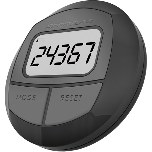 Sportline 2-Function Step and Distance Pedometer, Black