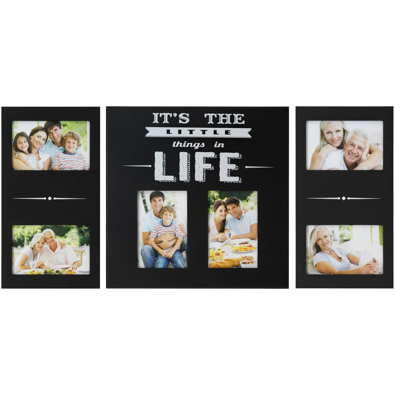 Melannco 6-Opening Its The Little Things In Life Photo Collage, Set of 3, Picture Frame