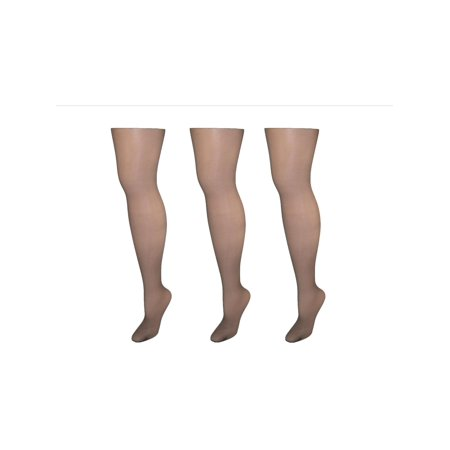 07da30dcf45a5 Hanes - Size AB Womens Silk Reflections Control Top Pantyhose with Sheer  Toe (Pack of 3), Barely Black - Walmart.com