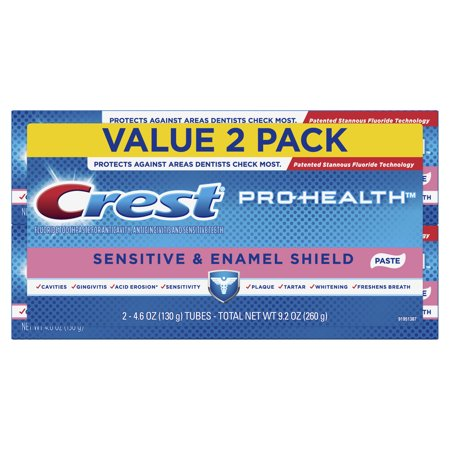 Crest Pro-Health Sensitive & Enamel Shield Toothpaste, 4.6 oz, Pack of 2