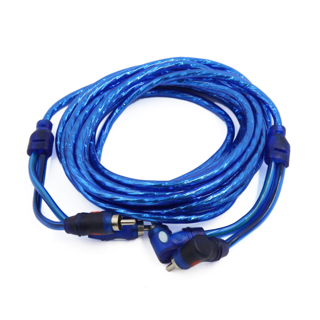 4.5 Meters RCA Right Angle Male to Straight Male Plug Audio Cable