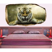 Startonight 3D Mural Wall Art Photo Decor Tiger in Bedroom Amazing Dual View Surprise Wall Mural Wallpaper for Bedroom Animals Wall Paper Art Gift Large 47.24 ?? By 86.61 ??