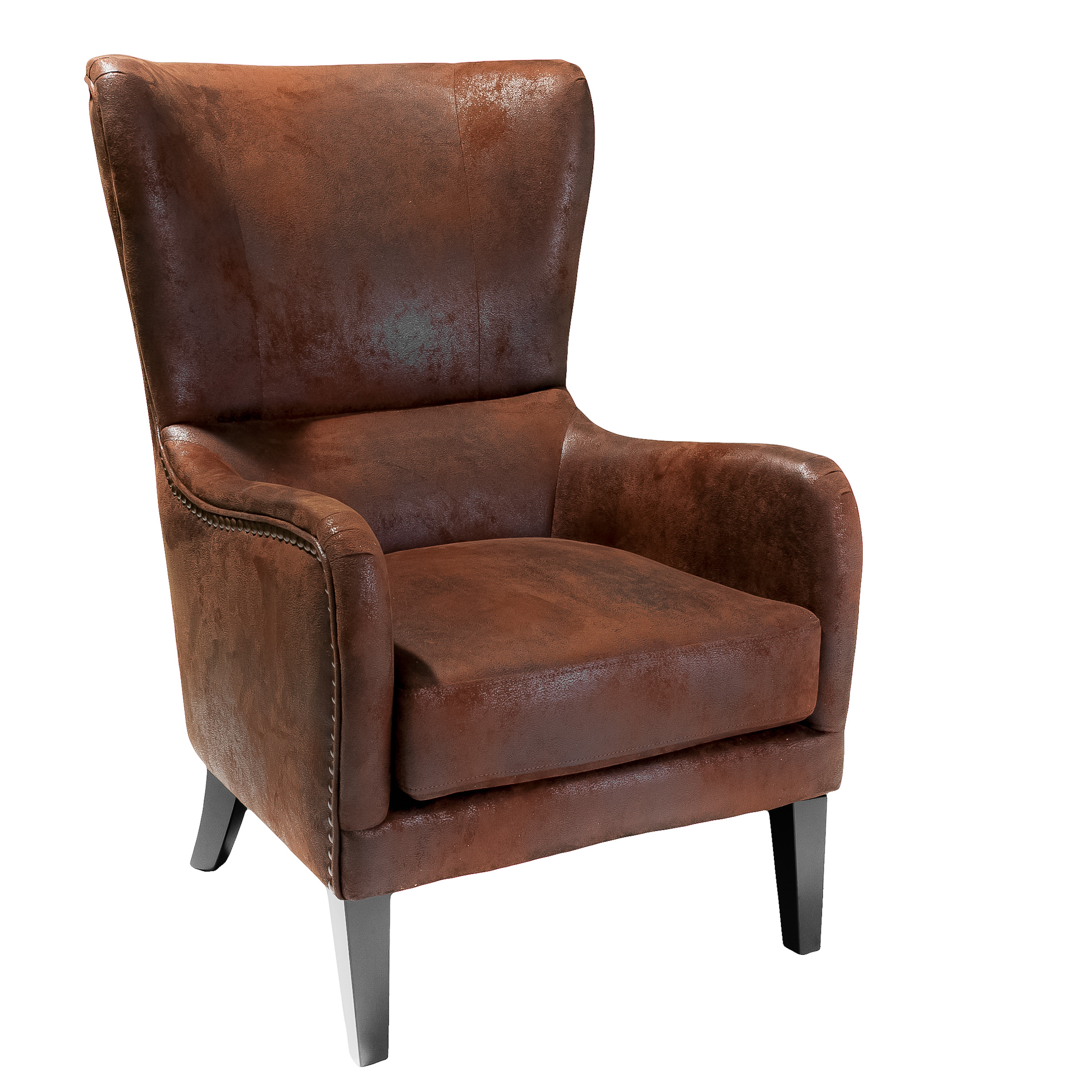 Kenedy Fabric Studded Club Chair