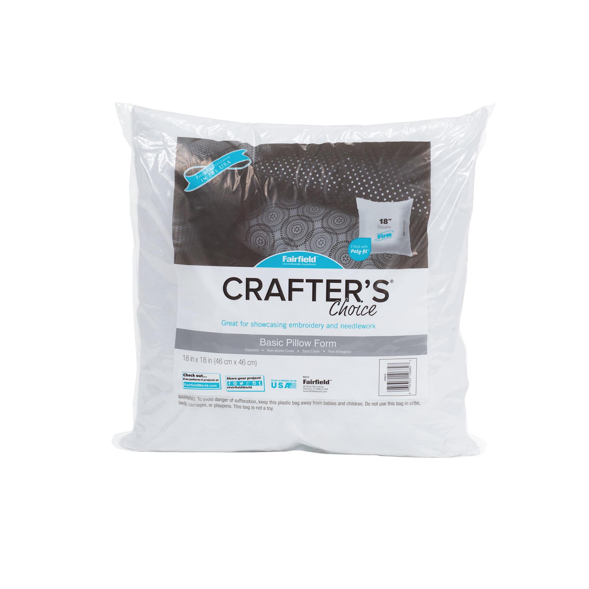 """Fairfield Crafter's Choice® Pillow Insert 18"""" x 18"""