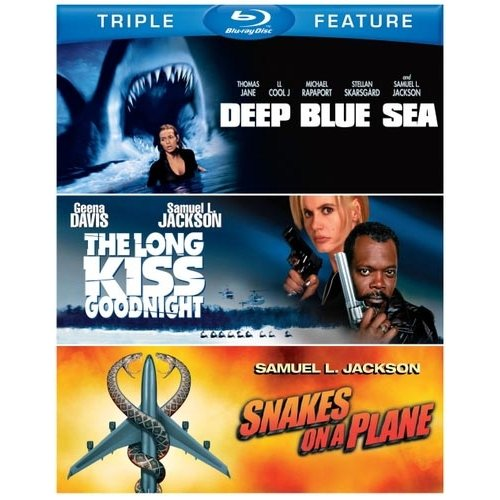 Deep Blue Sea / The Long Kiss Goodnight / Snakes On A Plane (Blu-ray) (Widescreen)