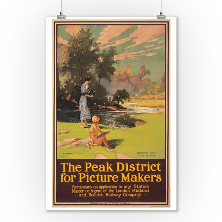 The Peak District for Picture Makers Vintage Poster (artist: Turner, C. E.) England c. 1925 (9x12 Art Print, Wall Decor Travel Poster) (E Picture)