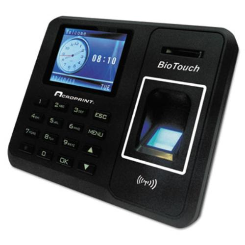 Acroprint Time Recorder 010276000 Xl Biometric Clock, Hours/minutes/seconds, 6 X 1-1/2 X 5