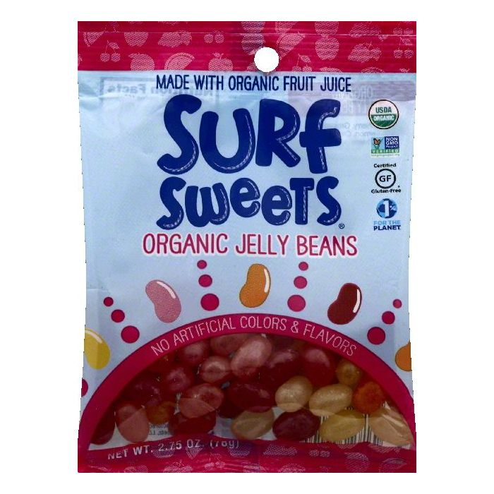 Surf Sweets Organic Jelly Beans, 2.75 OZ (Pack of 12)