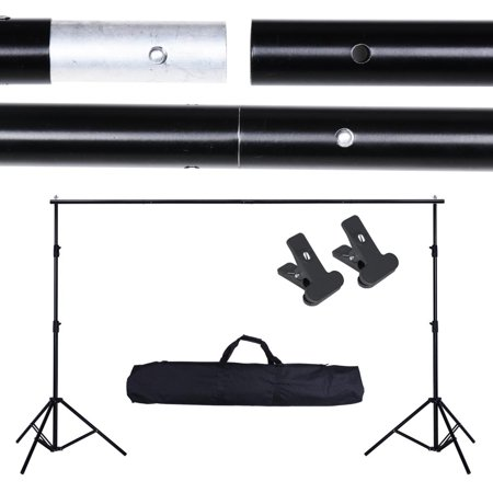 10Ft Adjustable Photo Backdrop Photo Video Studio Backdrop Support Stand Crossbar Kit Portrait
