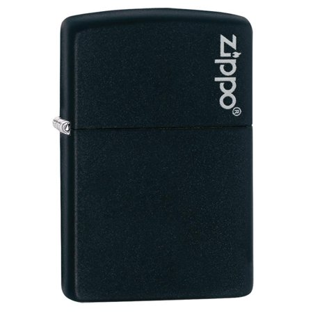 Navy Matte Lighter - ZIPPO LOGO BLACK MATTE LIGHTER