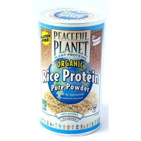 Organic Rice Protein Energy Shake Unflavored Veglife 15 5 Oz Powder