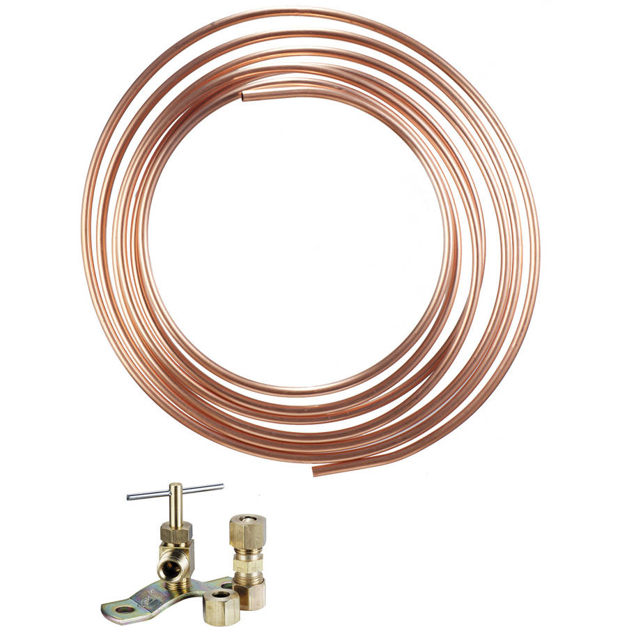 Waxman Consumer Group 7360200LF Low Lead Copper Tube Ice Maker Kit