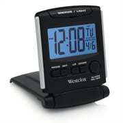 Westclox Fold-up Travel Alarm Clock, 2.5W x 3.4D x 3.26H In.