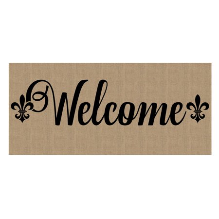 Evergreen Flag Fleur de Lis Welcome Switch Mat Insert Floor Mat Switch