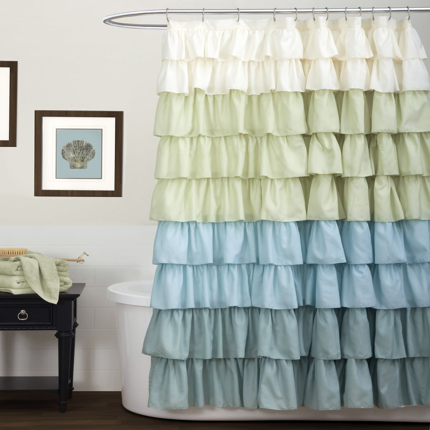 Ruffle Shower Curtain - Walmart.com