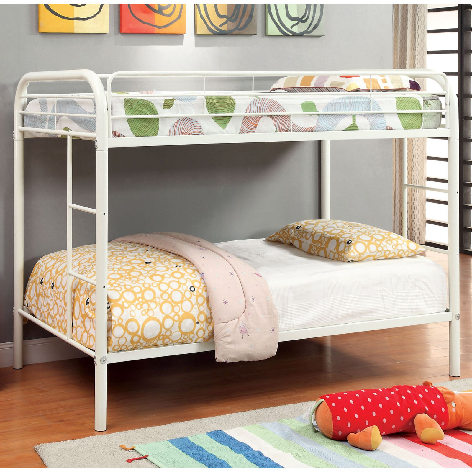 Sheen Pike Dual Ladder Twin over Twin Bunk Bed