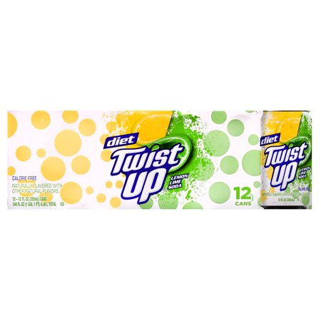 Twist Up Diet Lemon Lime Soda  144 Fl Oz  12 Cans