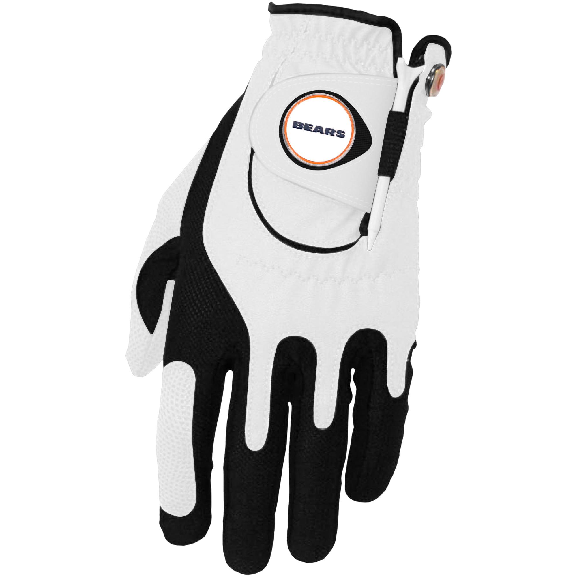 Chicago Bears Left Hand Golf Glove & Ball Marker Set - White - OSFM