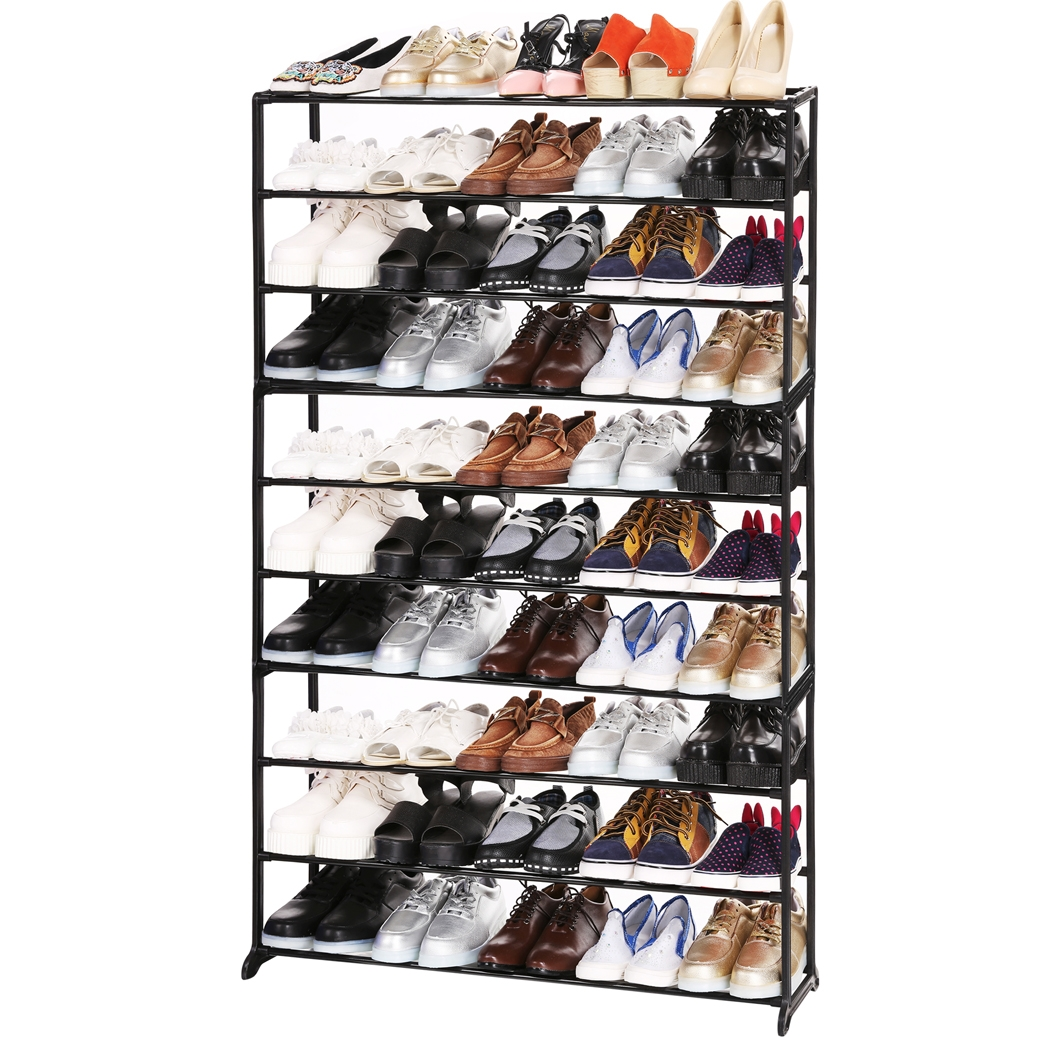 10Tier 50Pair Shoes Rack Shelf Home Shoes Organizer Storage Free Standing