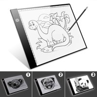 A4 LED Light Pad, Ultra Thin Portable LED Light Tracer, Full Range Dimmable with USB Power Cable for Artists, Sketching, Drawing, Tracing, X-ray Viewing