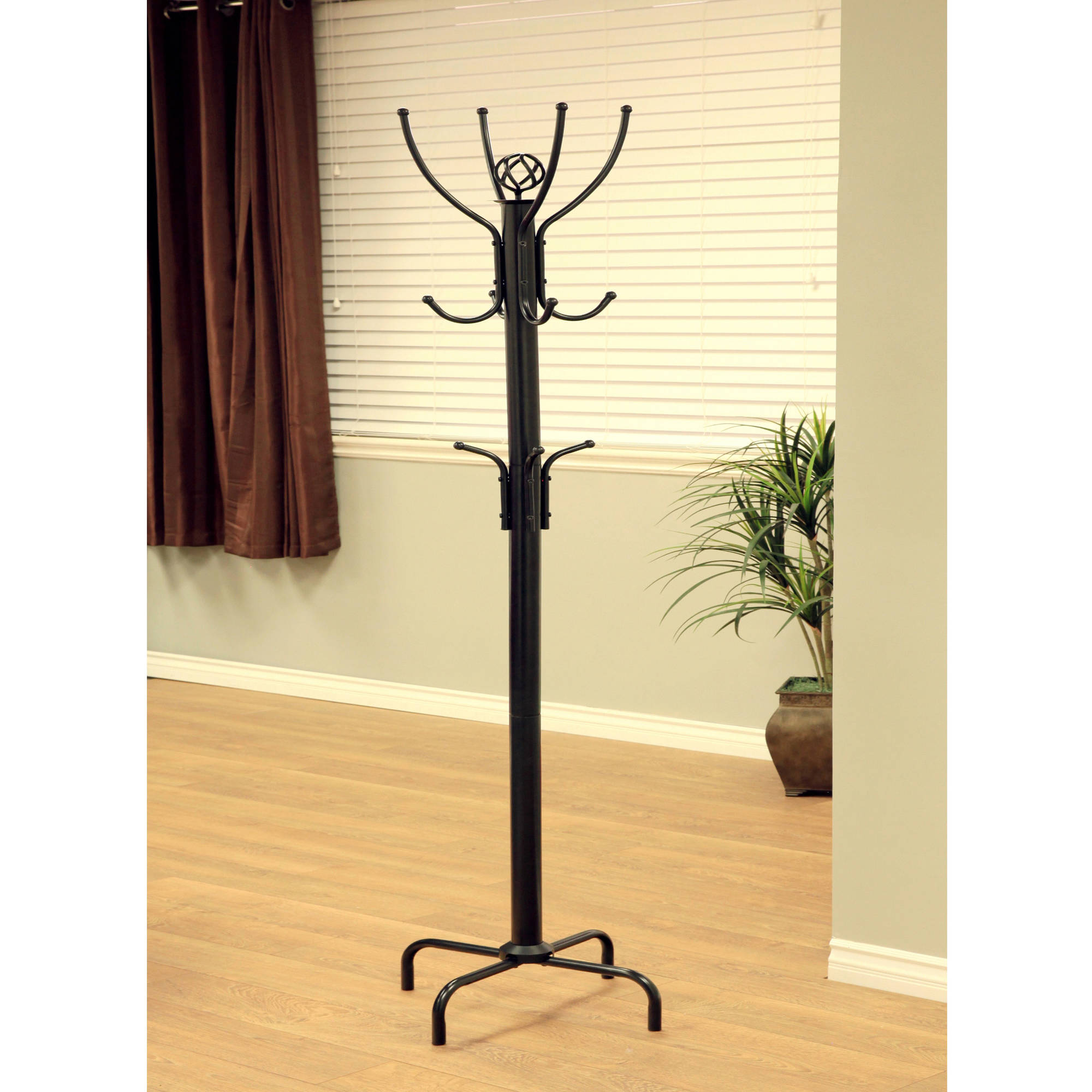 Home Craft Metal Coat Rack, Black