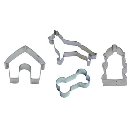 """German Shepard 5.25"""", Fire Hydrant 3"""", Bone 3.5"""", Dog House 3.5"""" Cookie Cutter - National Cake Supply"""