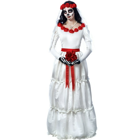 Day Of The Dead Bride Adult Costume - Bride Of Chucky Costume Kids