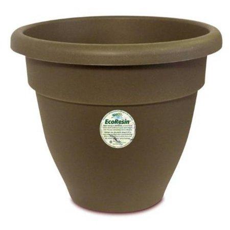 Akro-Mils Caribbean Eco-Resin Pot, 10-Inch, Chocolate