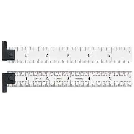 Starrett 6, Steel Rule, Tool Steel, CH604R-6