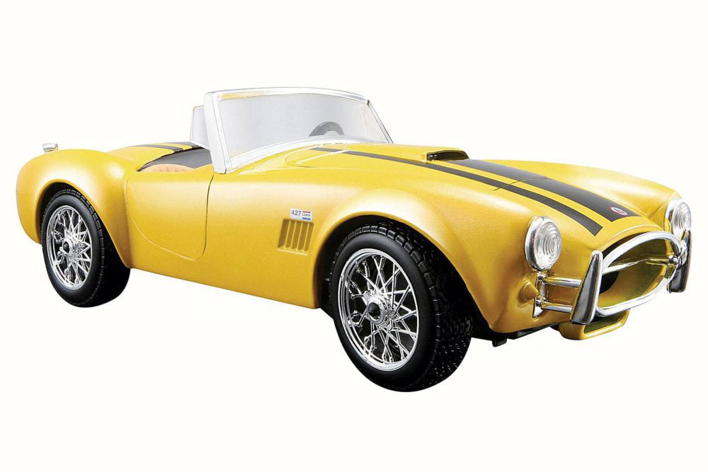 1965 Shelby Cobra 427 Convertible, Yellow Maisto 31276 1 24 Scale Diecast Model Toy Car by Maisto