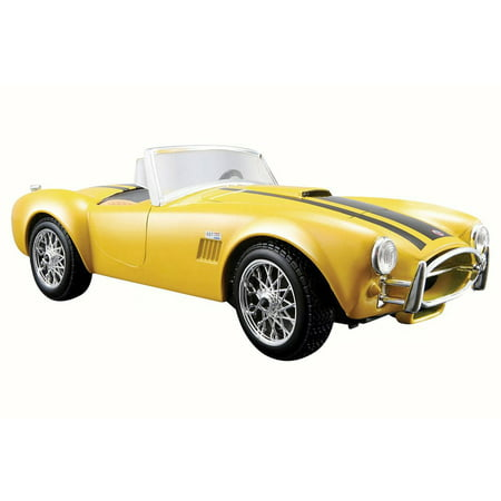 - 1965 Shelby Cobra 427 Convertible, Yellow - Maisto 31276 - 1/24 Scale Diecast Model Toy Car