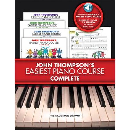 John Thompson's Easiest Piano Course - Complete : 4-Book/Audio Boxed (Bastien Piano Course)