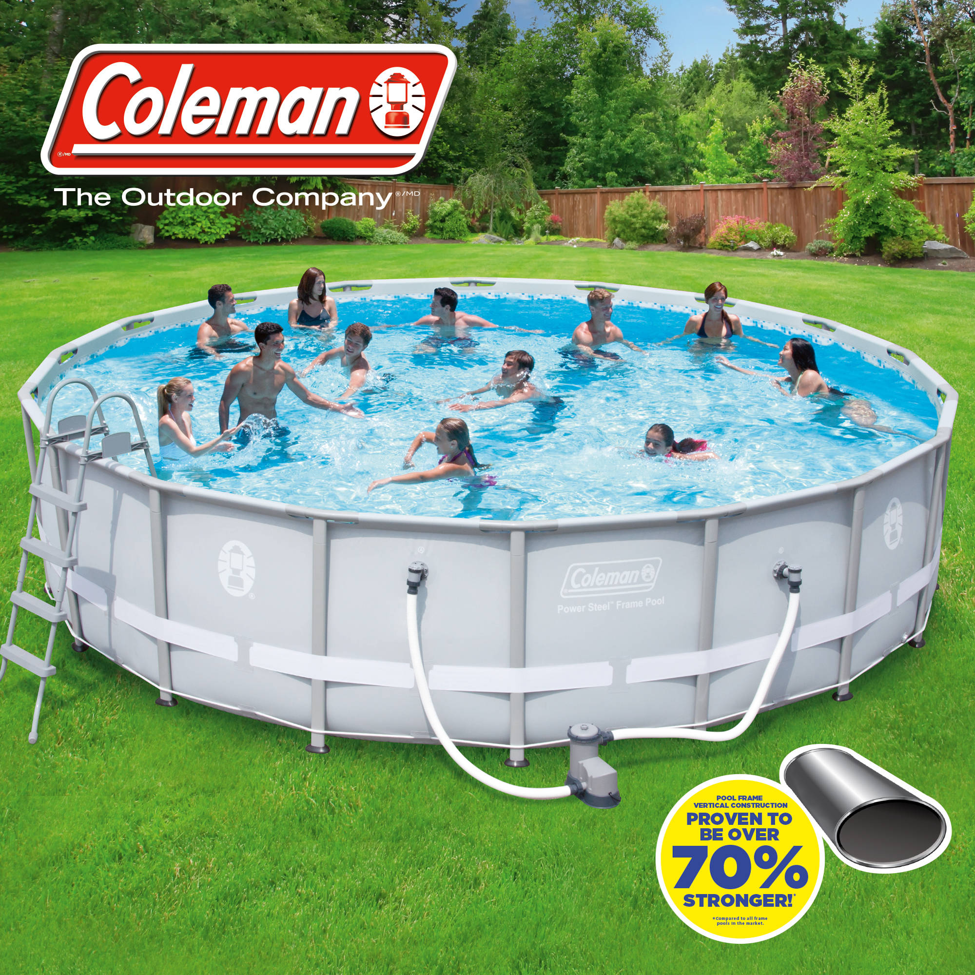 Coleman 18 X 48 Quot Power Steel Frame Above Ground Swimming