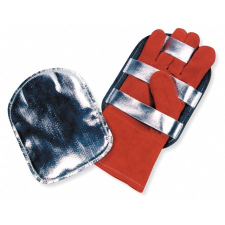 Glove Protector,  Universal,  Aluminized outer Shell, Felt Lined, Leather Straps