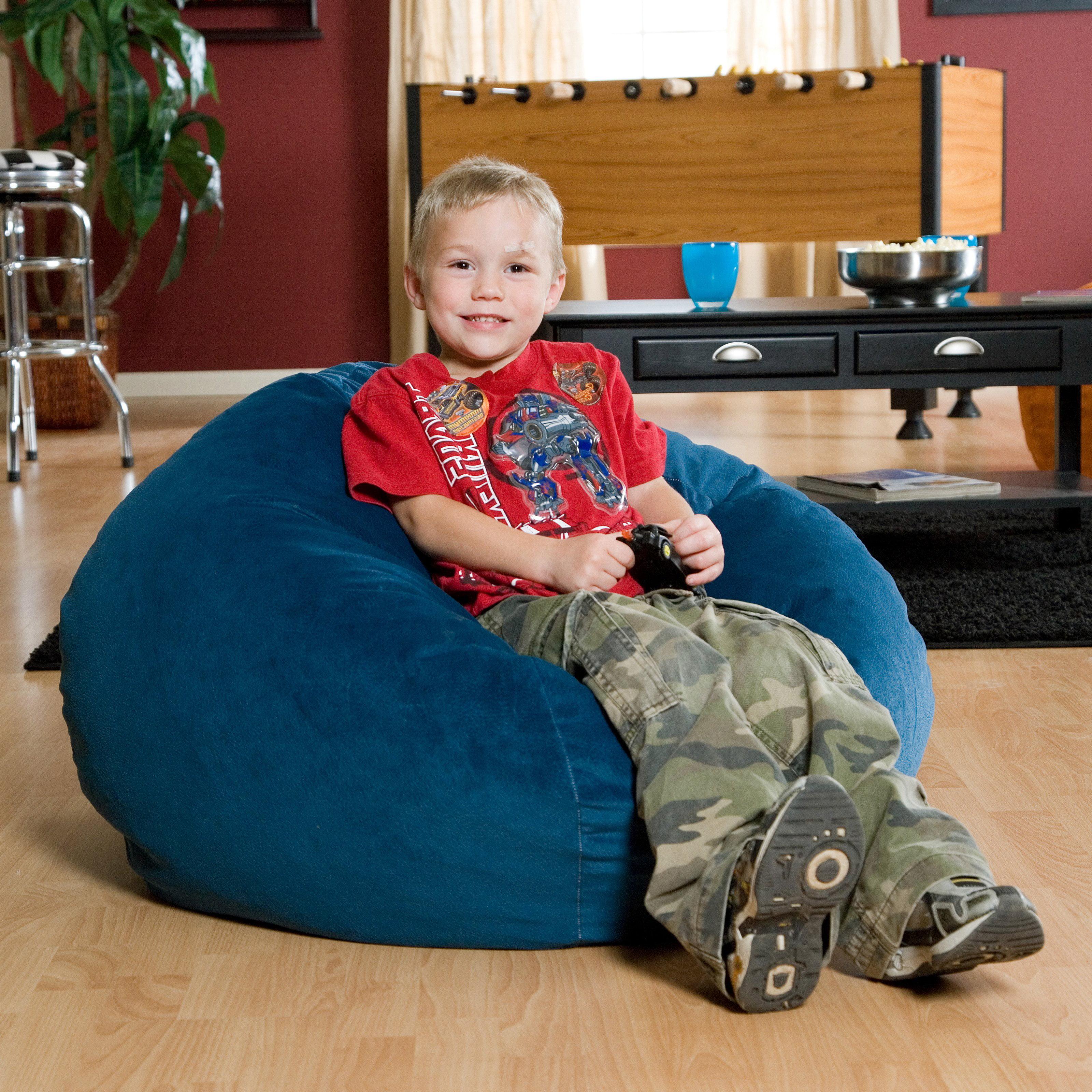 Strange Small 105 Black Microsuede Bean Bag Andrewgaddart Wooden Chair Designs For Living Room Andrewgaddartcom