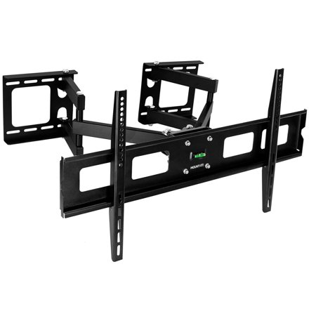 High Supply MI-484C Articulating Corner Mount for TV Premium Swivel Full Motion Wall Bracket for 37-63 inch Screen LCD OLED Plasma 4K Flat Panel Screens VESA up to 800x400, 132 lb Capacity, Black 35
