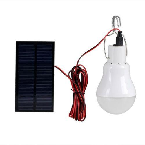 Portable Bulb Outdoor & Indoor Solar Powered LED Lighting System Solar Panel by