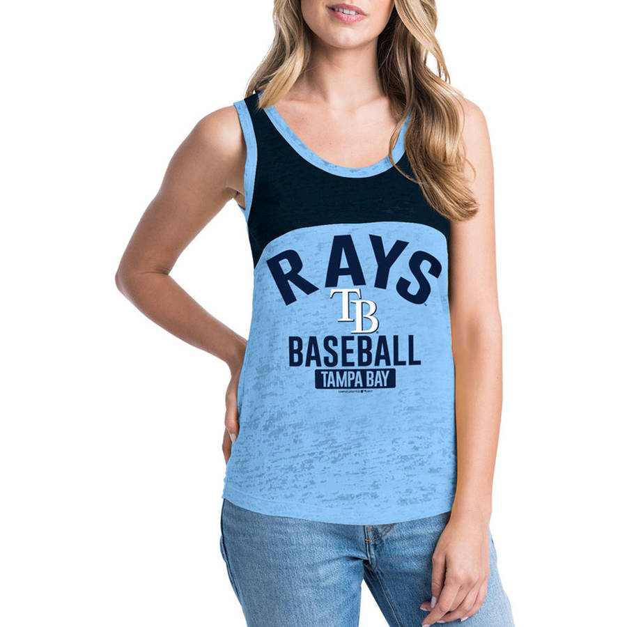 MLB Tampa Bay Rays  Women's Short Sleeve Team Color Graphic Tee