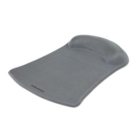 MonopriceMouse Pad with Gel Wrist Rest - Silver