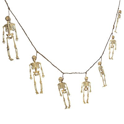 dangling skeleton garland - halloween decoration - Halloween Garland