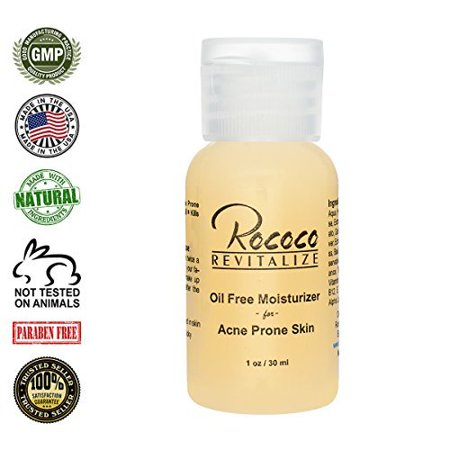 All Natural Oil Free Moisturizer For Acne Prone Skin   1Oz