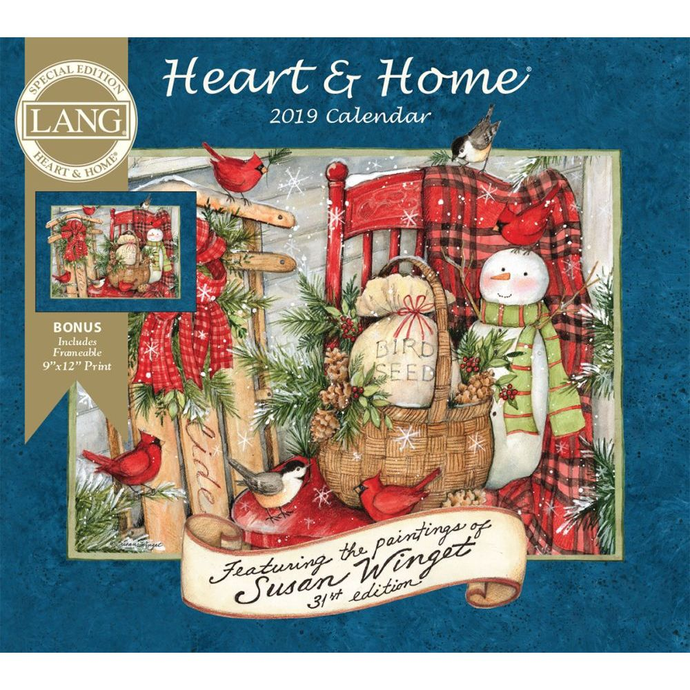 2019 Heart & Home Special Edition Wall Calendar, by Wells Street by LANG by Wells Street by LANG