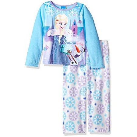 Disney Frozen Little Girls' Toddler 2-Piece Pajamas Featuring Anna & Olaf (Sizes 2T - 4T)