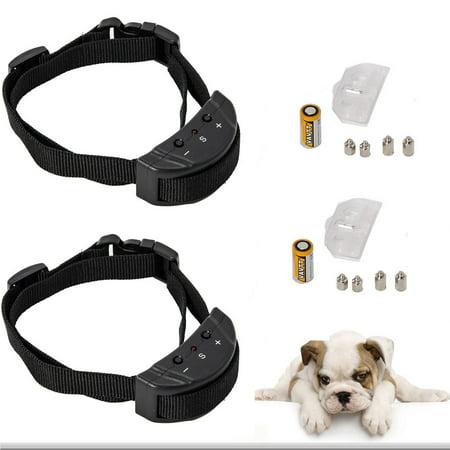2 X Anti Bark No Barking Tone Shock Training Collar Small Medium 8 150 Lb Dog Us