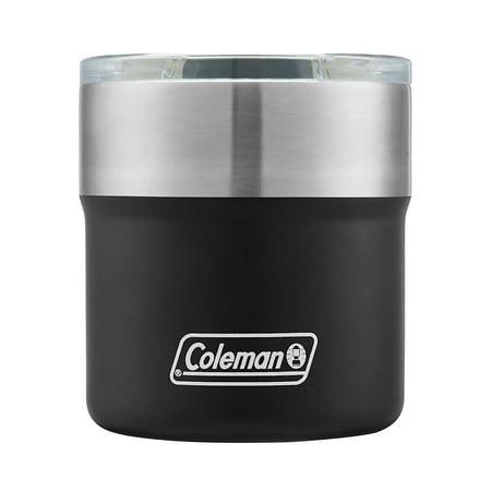 Coleman Sundowner Insulated Stainless Steel Rocks Glass, 13oz](Black Wine Glasses Bulk)