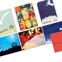 72 Holiday Cards  - Christmas Story - 6 Designs  - Blank Cards - Red Envelopes Included