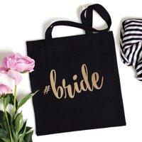 Hashtag Personalized Black Tote Bag