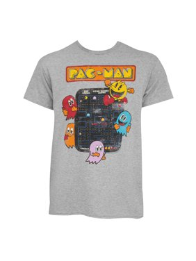 Pacman Ghosts Grey Tee Shirt